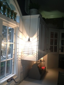 New Light...looks like a golf ball basket...I even installed this myself.