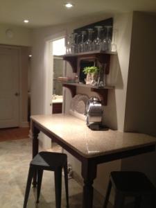 Kitchen in Emily's new Nest.