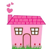 10790184-pink-cute-house-with-grass-isolated-over-white-background-vector