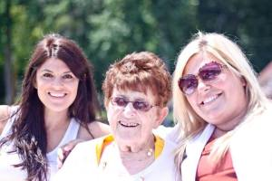 Grandma, Emily and Andi...90th Bday