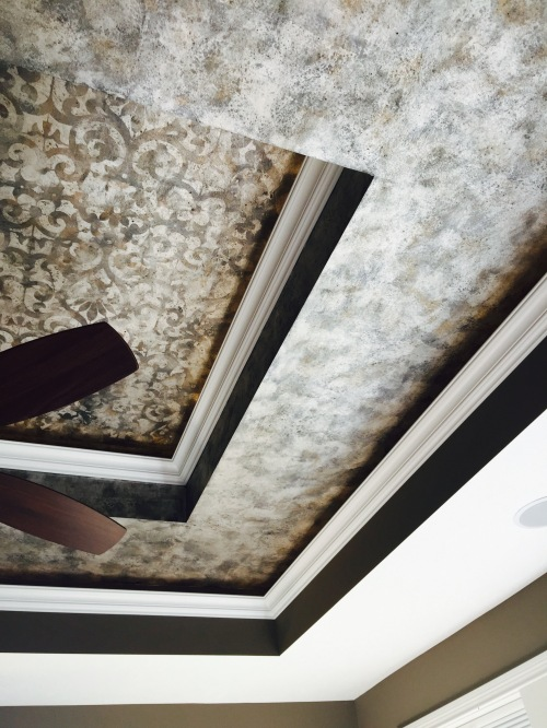 This is a ceiling in master bedroom....HOW many treatments can one room handle???