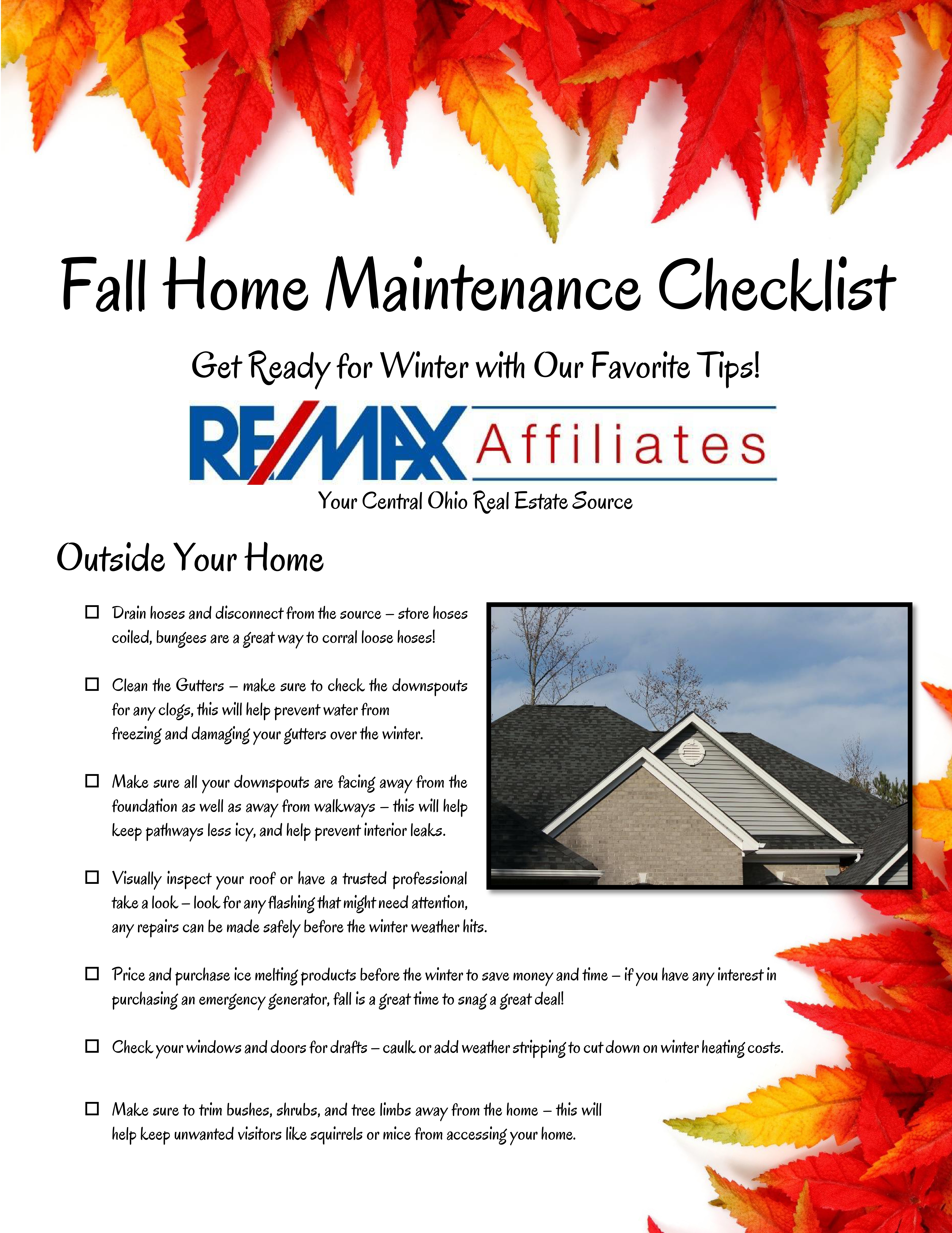 free fall home maintenance checklist to be completed before bucks beat michigan the real. Black Bedroom Furniture Sets. Home Design Ideas