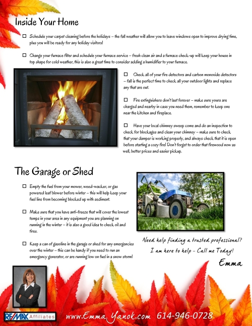 Fall Home Maintenance Checklist-Emma Yanok2