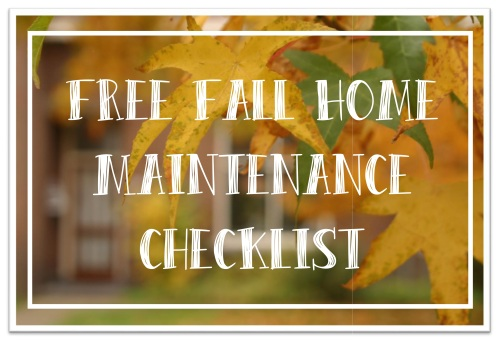 Free Fall Home Maitenance Checklist Graphic3